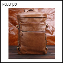 new 2016 factory wholesale men brown leather backpack satchel wholesale