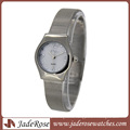 Stainless Steel Band Quartz Wrist Watch for Lady