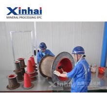 Produtos de borracha industriais da elasticidade da resistência de abrasão para forros na introdução do grupo de molho da mineração