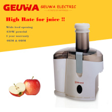 Guewa Wide Feed Opening Juicer à la pomme à usage domestique
