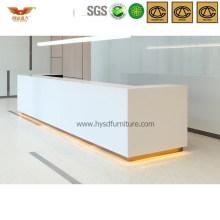 Elegant White Square Office Reception Desk Salon Front Desk (HY-Q29)
