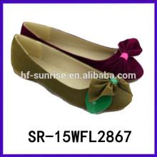 2015 Frau flache Schuhe China Schuhfabrik Großhandel China Frauen Schuhe