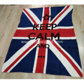 National Flag Printing Fleece Blanket