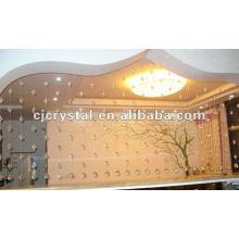 Cortina de porta de cristal, porta pendurada cortina de contas