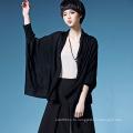 Леди мода вискоза вязаный карман кардиган свитер (YKY2064)