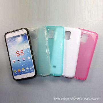 Матовой кожи пудинг желе Мягкий ТПУ чехол для Samsung Galaxy S5