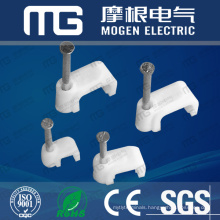 Cheap Price White Plastic Round Flat Wall Cable Wire Clips With