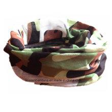 Personalizado de diseño impreso ejército Verde Multifuncional cuello Tube Buff Headwear