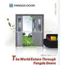 3 слоя закаленного стекла 1/2 свет декоративный кремово-белый качели стальные двери
