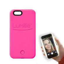Caixa do telefone móvel com LED para iluminar o rosto Selfie