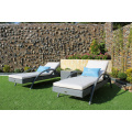 Weather Resistant Poly Rattan Lounger for Beach/Pool and Resort