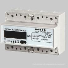 3 Fios de Fase 4 Medidor de Energia Eletrônico Multi-Taxa DIN-Rail