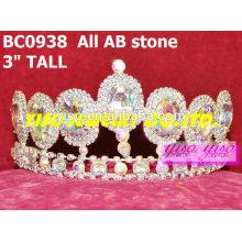Ab камень кристалл ювелирные изделия короны и тиары