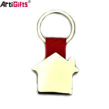 Porte-clés en cuir métal personnalisé forme maison unique pour les hommes