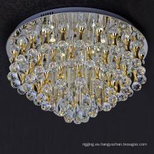 lámpara de techo de araña de luces personalizada de acero inoxidable