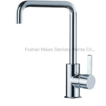 Sanitary Ware Square Shape Chrome Plated Sink Kitchen Faucet (026-01)