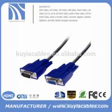 Cable vga premium cable VGA macho a hembra para monitor CRT / LCD y TV