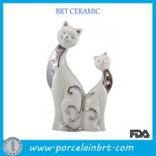 Décoration en céramique de mariage de forme de chat de promotion pour le cadeau