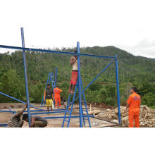Casa de Prefab de bajo costo duradero con marco de estructura de acero simple
