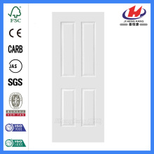 JHK-004P Wood Grain Texture Design 4 Panel White Primer Skin para puerta