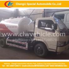 Les camions de Bobtail de LPF de Dongfeng 4 * 2 pour remplir réutilisent des camions de Bobtail de remplissage de LPG de 5.5cbm