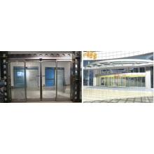 Portas deslizantes automáticas com sistema de operador Geze