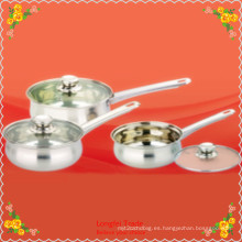 3 PCS Milk Pan Acero inoxidable