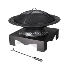 Steel Wood Burning Fire Pit With Base
