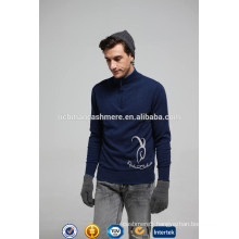Zipper Neck Long Sleeve Pullover Sweater For Men