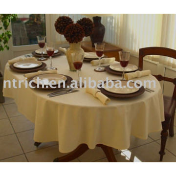 Polyester fabric table linen, hotel tablecloth,table cover
