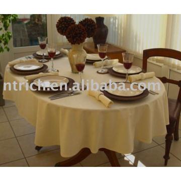 Toalhas de mesa de tecido de poliéster, toalha de mesa do hotel, tampa de tabela