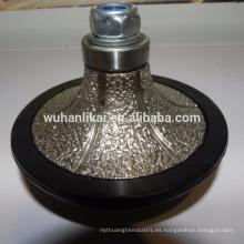 Diamante abrasivo de diamante de dureza media Rueda de perfil de molienda de bullnose soldadas al vacío