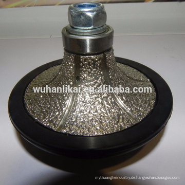 Mittlerer Härte-Diamant-Schleifdiamant Vakuum gelötetes Bullnose-Schleifprofilrad