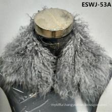 Long Pile Natural Mongolian Fur Scarf Eswj-53A