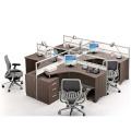 Современная кластерная рабочая станция для офисной рабочей станции для офисной рабочей станции для 4 человек