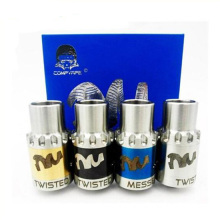 Twisted Messes Rda with 3 Wide Bore Drip and 3adjustable Airflow Ring