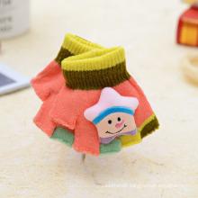 Half Finger Warm Dual Use Flip Kids Knitted Gloves Wholesale