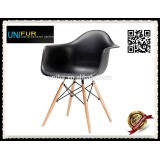 Indoor leisure classic modern colorful plastic replica DAW chair modern for dining room