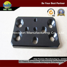 Plaque d'aluminium CNC avec anodisation noire