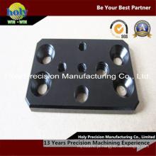 Placa de alumínio de usinagem CNC com anodização preto