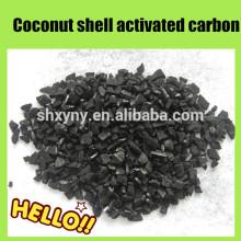 Granules de charbon actif de coquille de noix de coco de l'iode 8X16 haut pour l'or