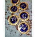 Luxe promotionnel, plaque décorative avec garniture en or