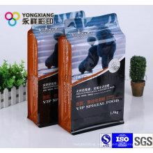 Embalaje de plástico impreso para alimentos para mascotas con Ziplock