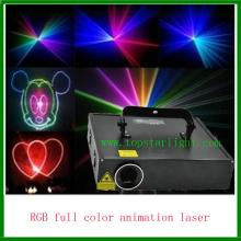 2015 promosi kartun Laser 2W RGB peringkat cahaya Laser