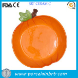 Novelty Pumpkin Shaped Porcelain Tray for Food