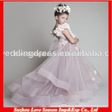 HF30005 fornecedor de porcelana e vestido de bola alibaba bonito natal crianças princesa casamento vestido de menina de flor 2014 de 7 anos de idade