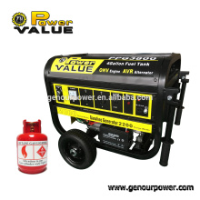 Factory direct sales1000w~6500w lpg generator Natural Gas power generator