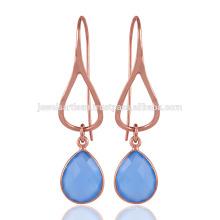 Blauer Onyx Einzigartiger Entwurf 925 Sterlingsilber-heller gewichteter Ohrring