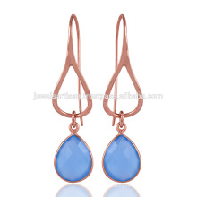 Onyx azul Diseño único Plata esterlina 925 Light Weighted Earring