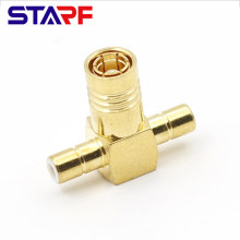 STA SMB brass gold-plated 2 Male to 1 Female SMB T type TEE adapter Amphenol 142299 142300